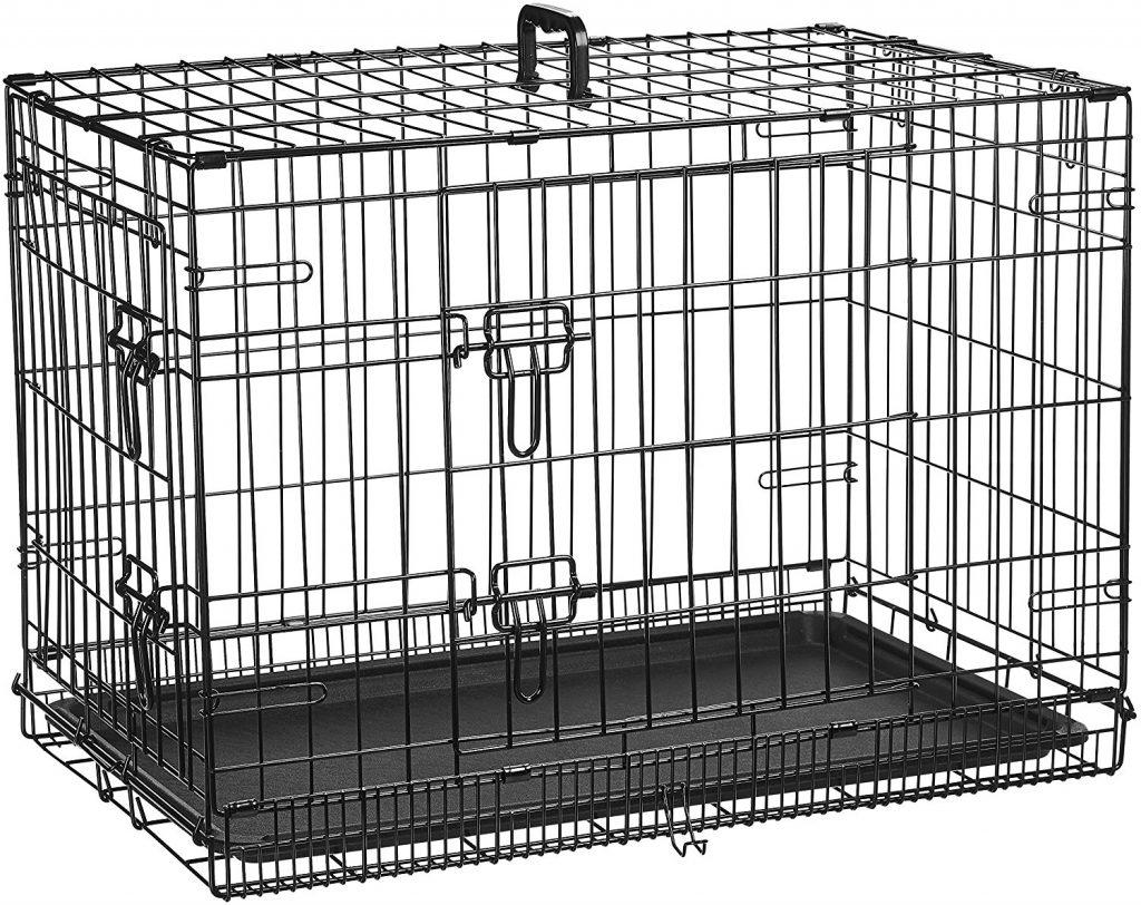 jaula metalica plegable cerrada